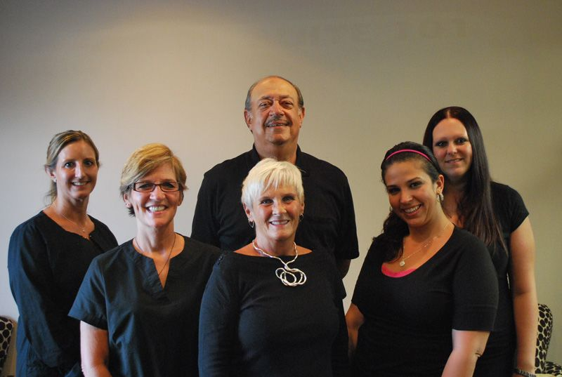 The staff at the office of Jose M. Goldberg, DDS
