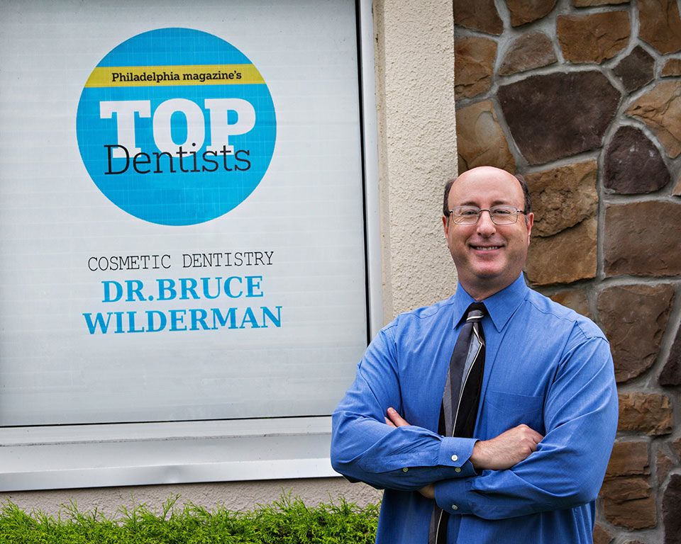 Dr. Wilderman outside his Bucks County Dental Office