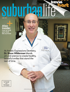 Dr. Bruce Wilderman on the cover of suburban life