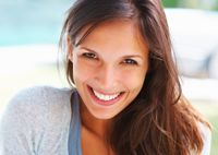 Attractive smiling brunette