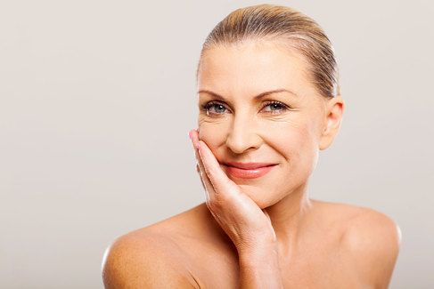woman with youthful face after novathreads treatment