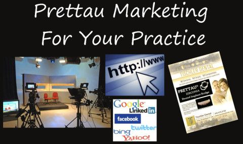 Prettau® marketing materials for dental professionals.