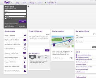 FedEx Website Screen Shot