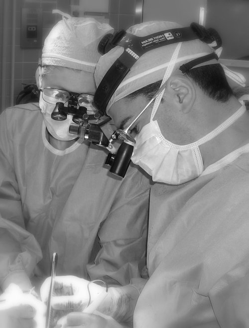 Dr. Oren Lerman performing surgery
