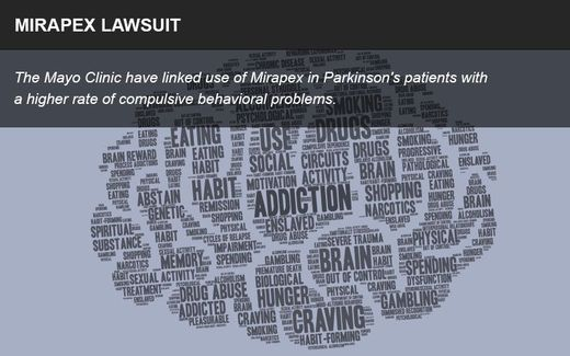 Mirapex lawsuit infographic