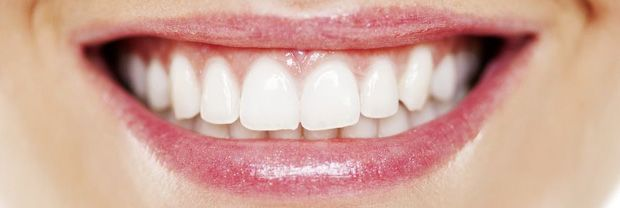 Close-up of a beautiful smile with ideal gum line