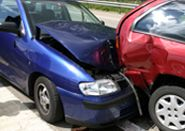 two collided cars
