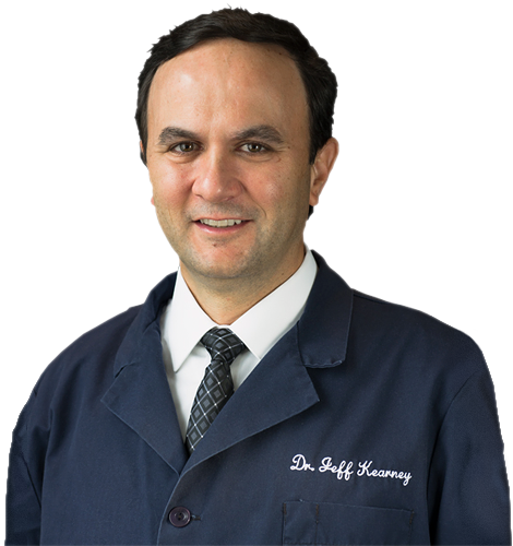 Dr. Jeffrey Kearney, restorative and cosmetic dentist.