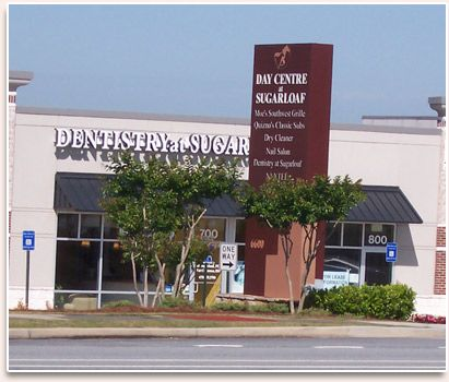 Outside building front of Dentistry at Sugarloaf in Duluth, GA business