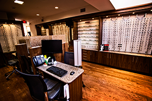 Dispensary Window View - McLeod Optometry Clinic