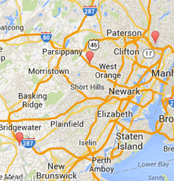 Map of New Jersey Office Locations