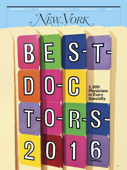 New York Magazine Best Doctors 2014