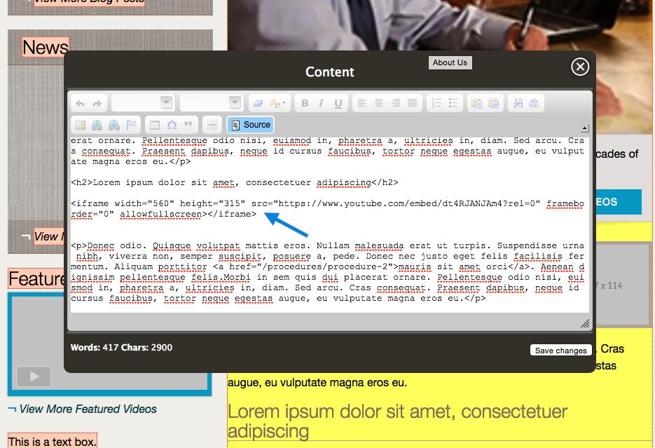 Adding a YouTube Video - Einstein Medical Help Center