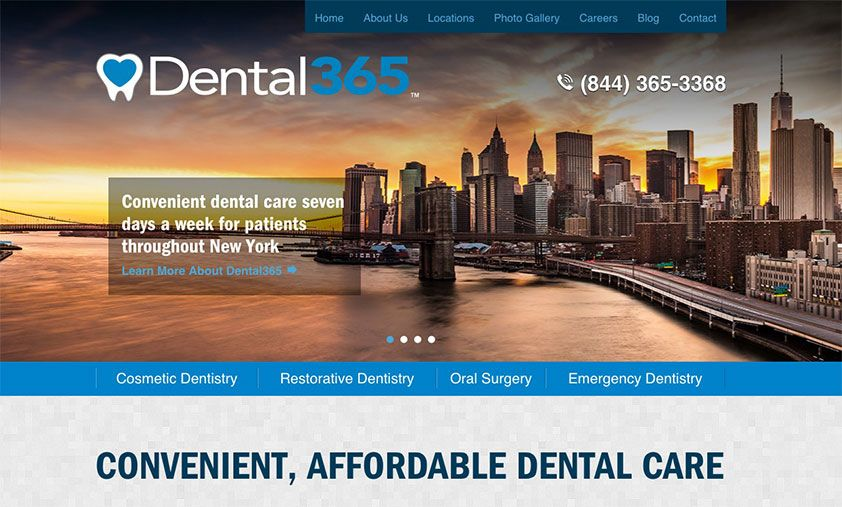 The website of Dental365