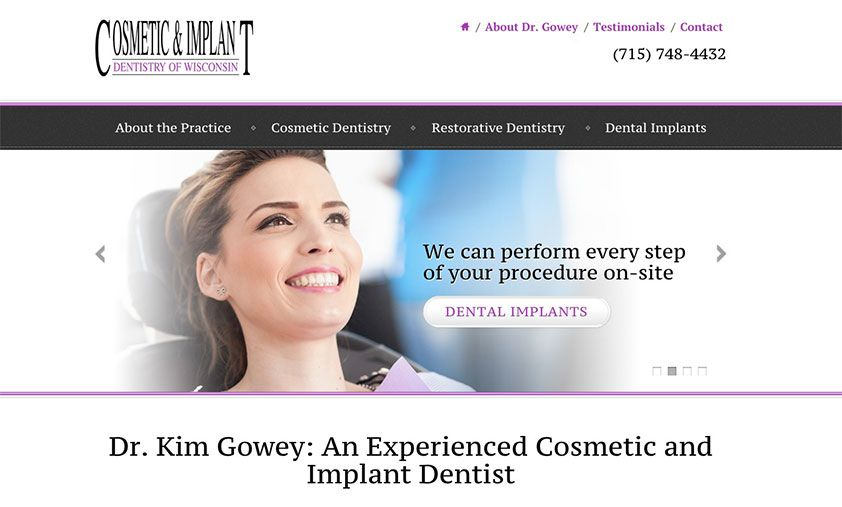 The website of Kim A. Gowey, DDS