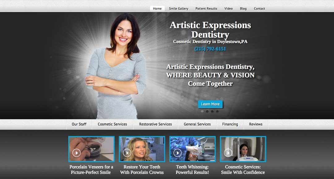 The custom website of Dr. Bruce Wilderman