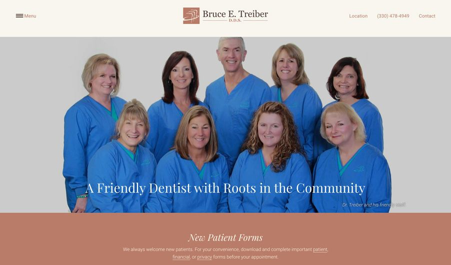 The website of Bruce E. Treiber