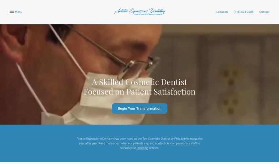 The custom website of Dr. Bruce Wilderman