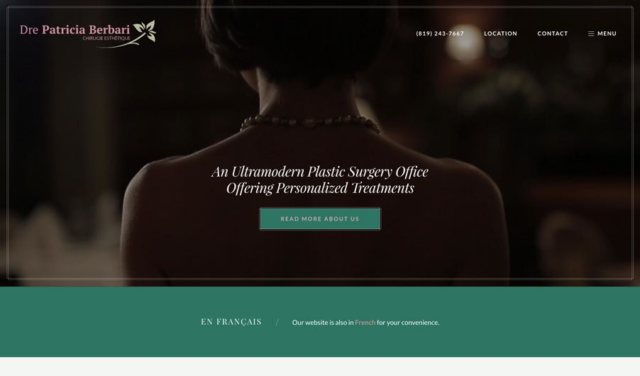 The custom website of Dr. Patricia Berbari