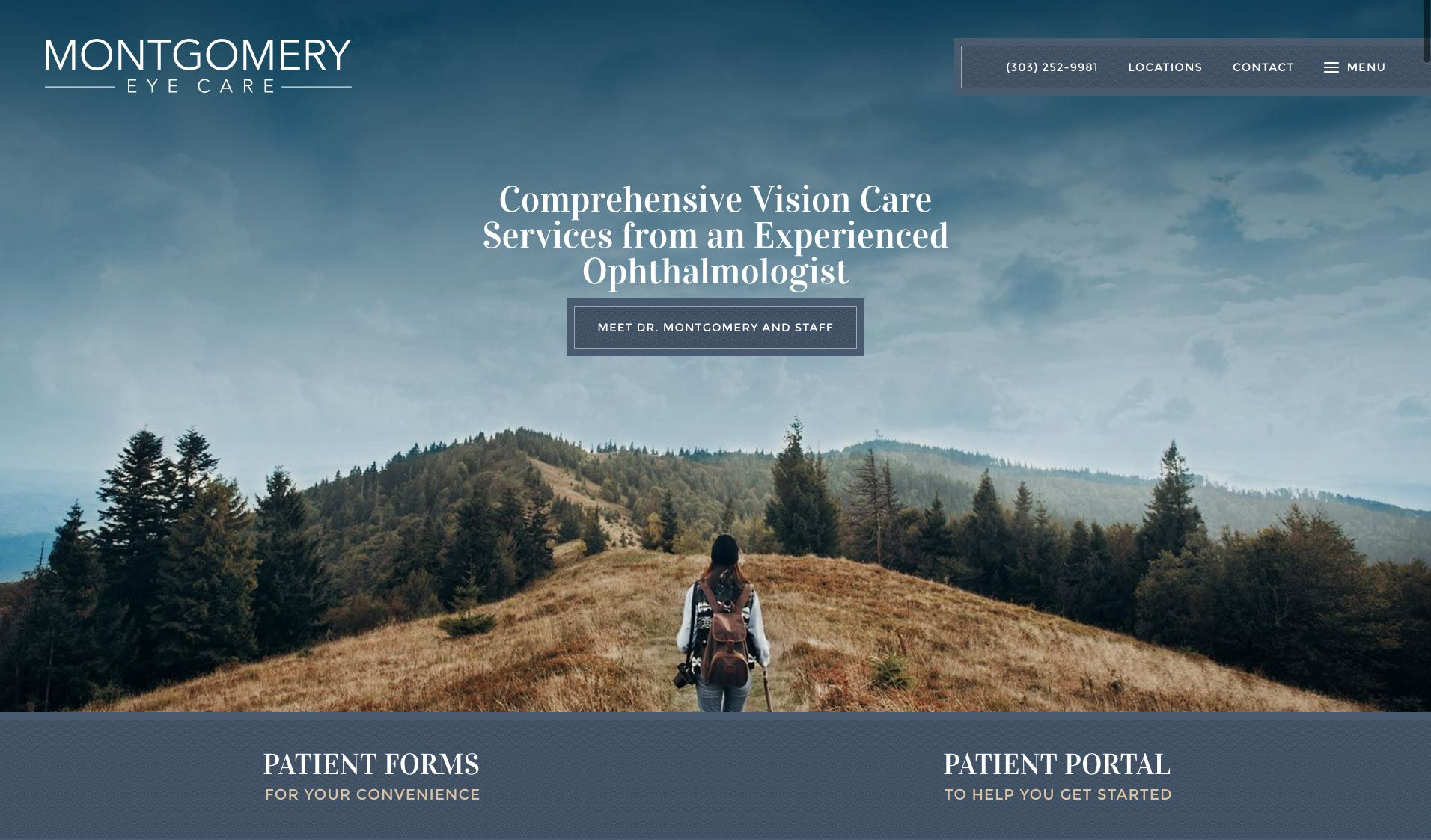 The website of Montgomery Eye Care