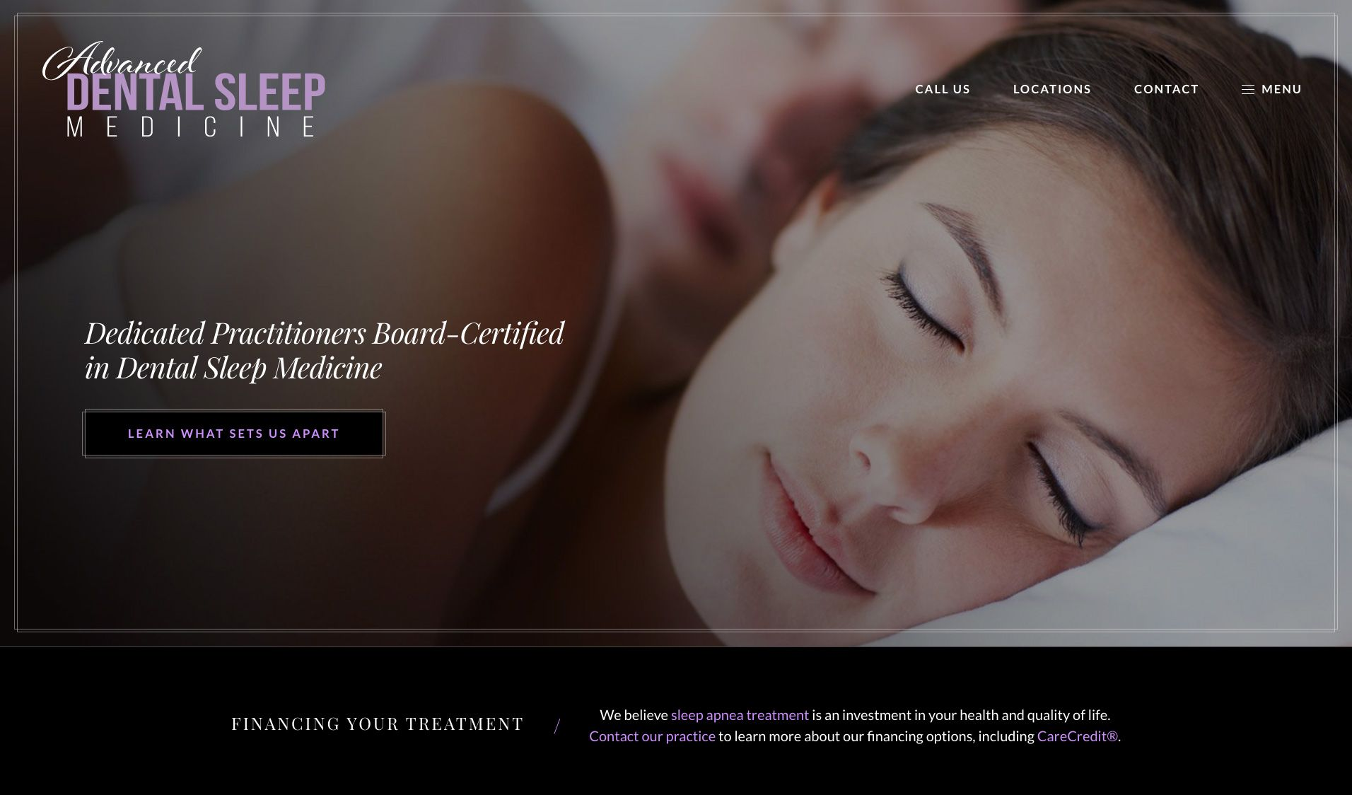 The website of Advanced Dental Sleep Medicine