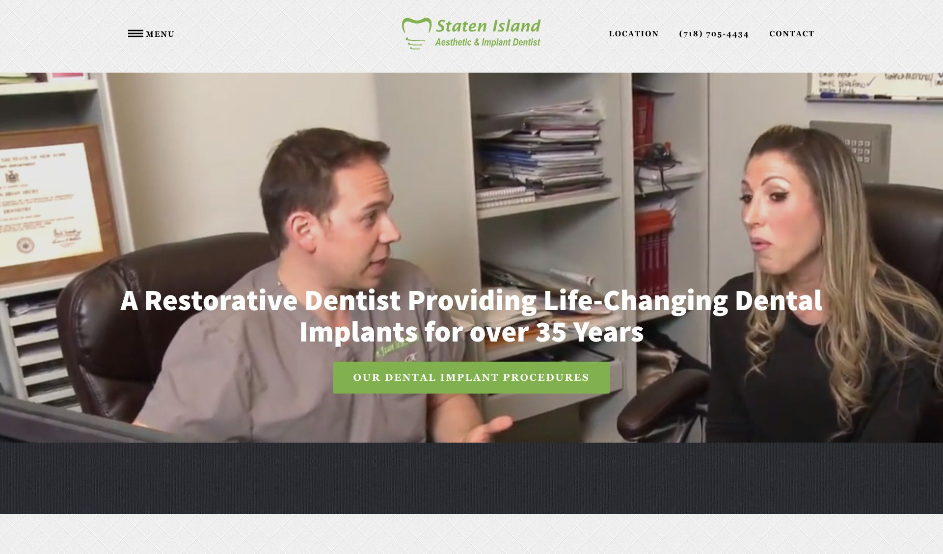 The website of Staten Island Aesthetic & Implant Dentist