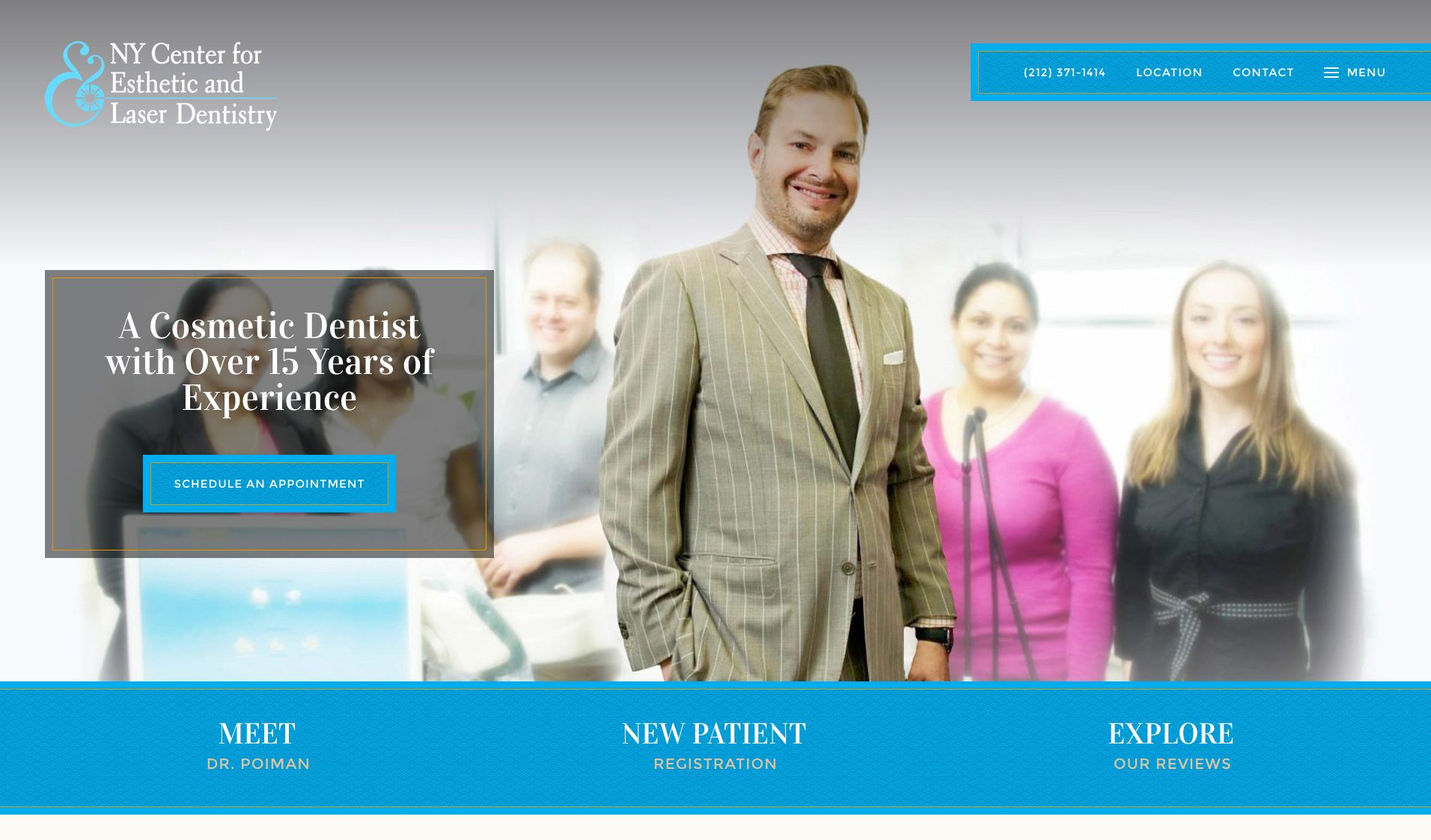 The website of NY Center for Esthetic and Laser Dentistry