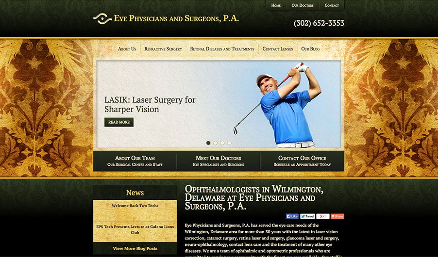 The website of Eye Physicians & Surgeons, P.A.