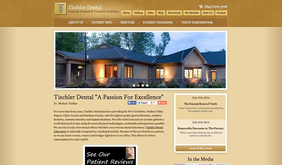 The custom website of Dr. Michael Tischler