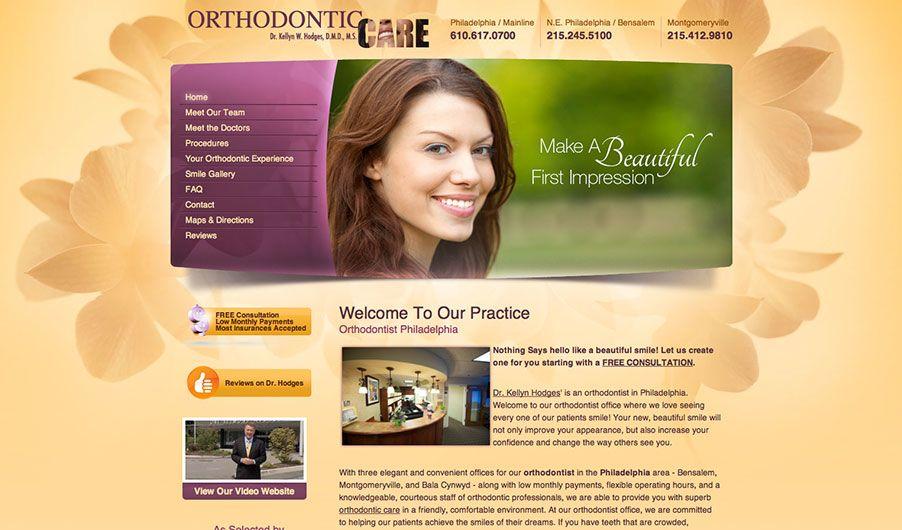 The custom website of Dr. Kellyn Hodges