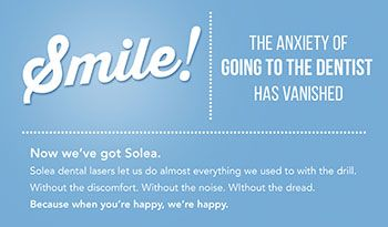 A flier advertising Solea for dentistry.
