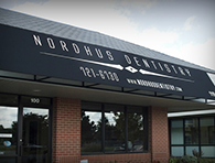 A view of the Nordhus Dentistry storefront.