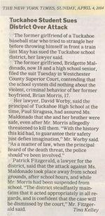 Tuckahoe Student Sues