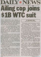 Ailing cop joins $1B WTC suit