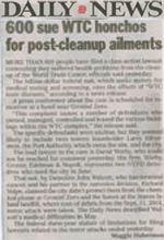 600 sue WTC honchos for post-cleanup ailments