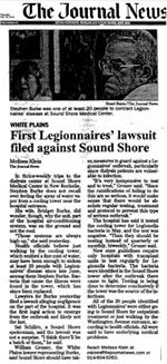 First Legionnaires' Lawsuit Filed Against Sound Shore