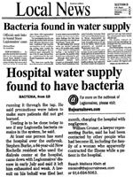 Bacteria found in water supply