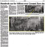 Hundreds sue for billions over Ground Zero cleanup