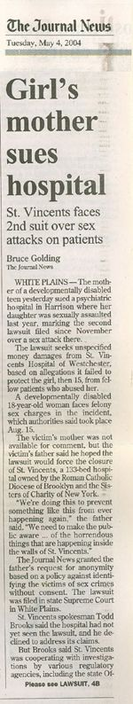 Girl's mother sues hospital