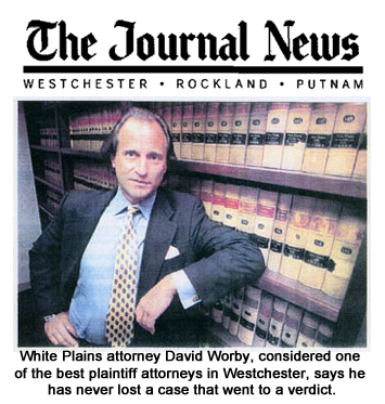 David Worby considered one of the best plaintiff attorneys in Westchester