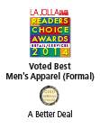 La Jolla Readers Choice Awards 2014 - Voted Best Men's Apparel (Formal)