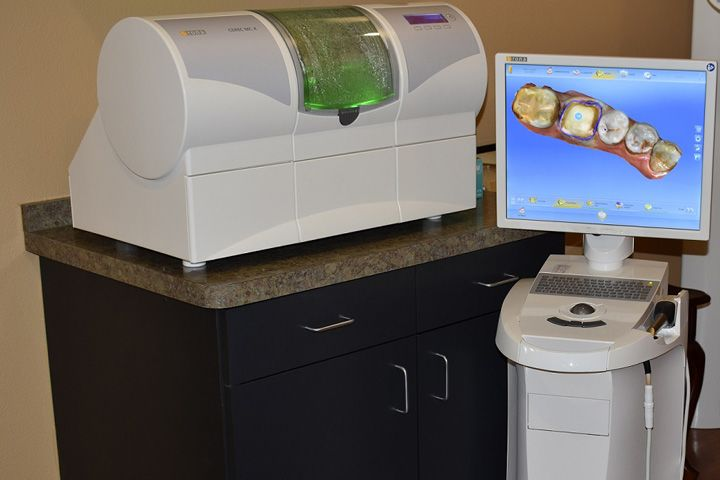 Photo of a CEREC® milling unit