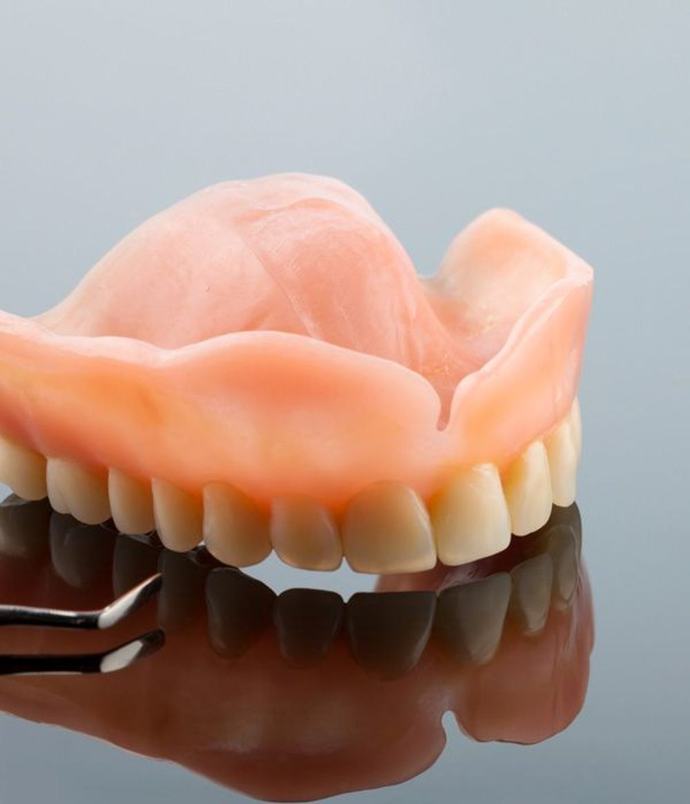 A set of full dentures