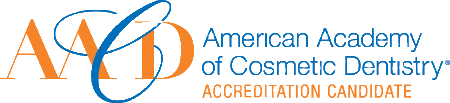 The American Academy of Cosmetic Dentistry logo.