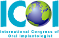 The International Congress of Oral Implantologist logo.