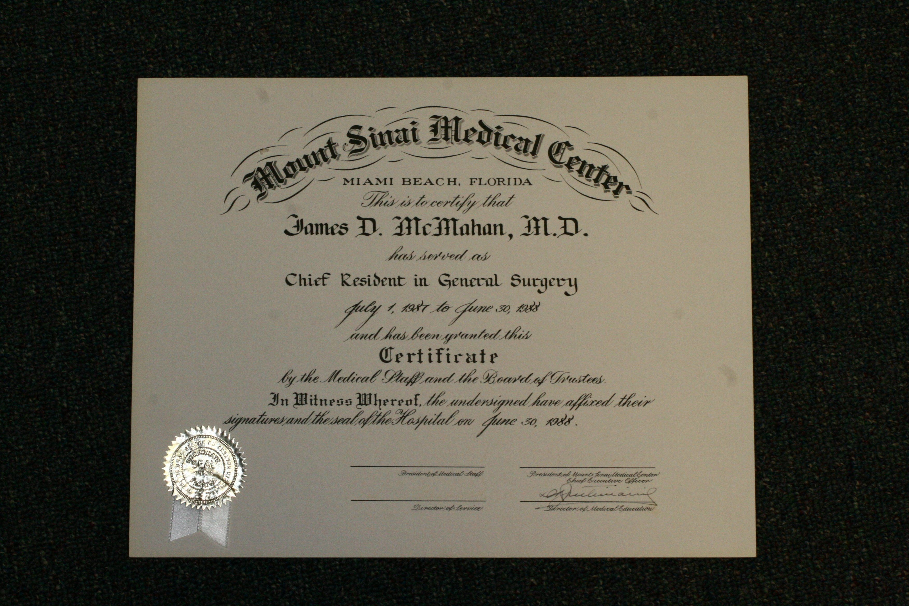 Chief Resident in General Surgery