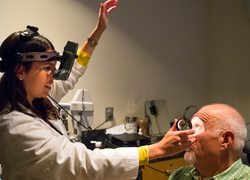 Eye exam for glasses and contact lenses
