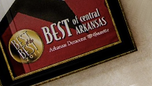 A magazine featuring an article about the best of central Arkansas