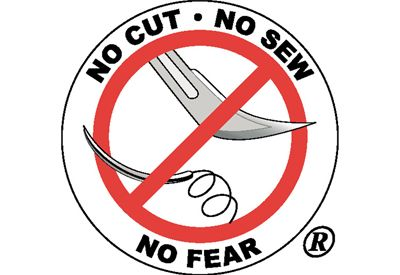 No cut, no sew, no fear logo.