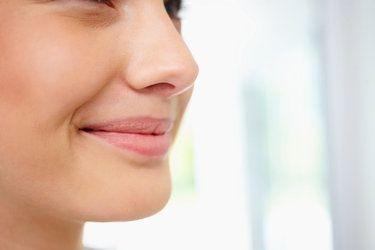 woman's chin